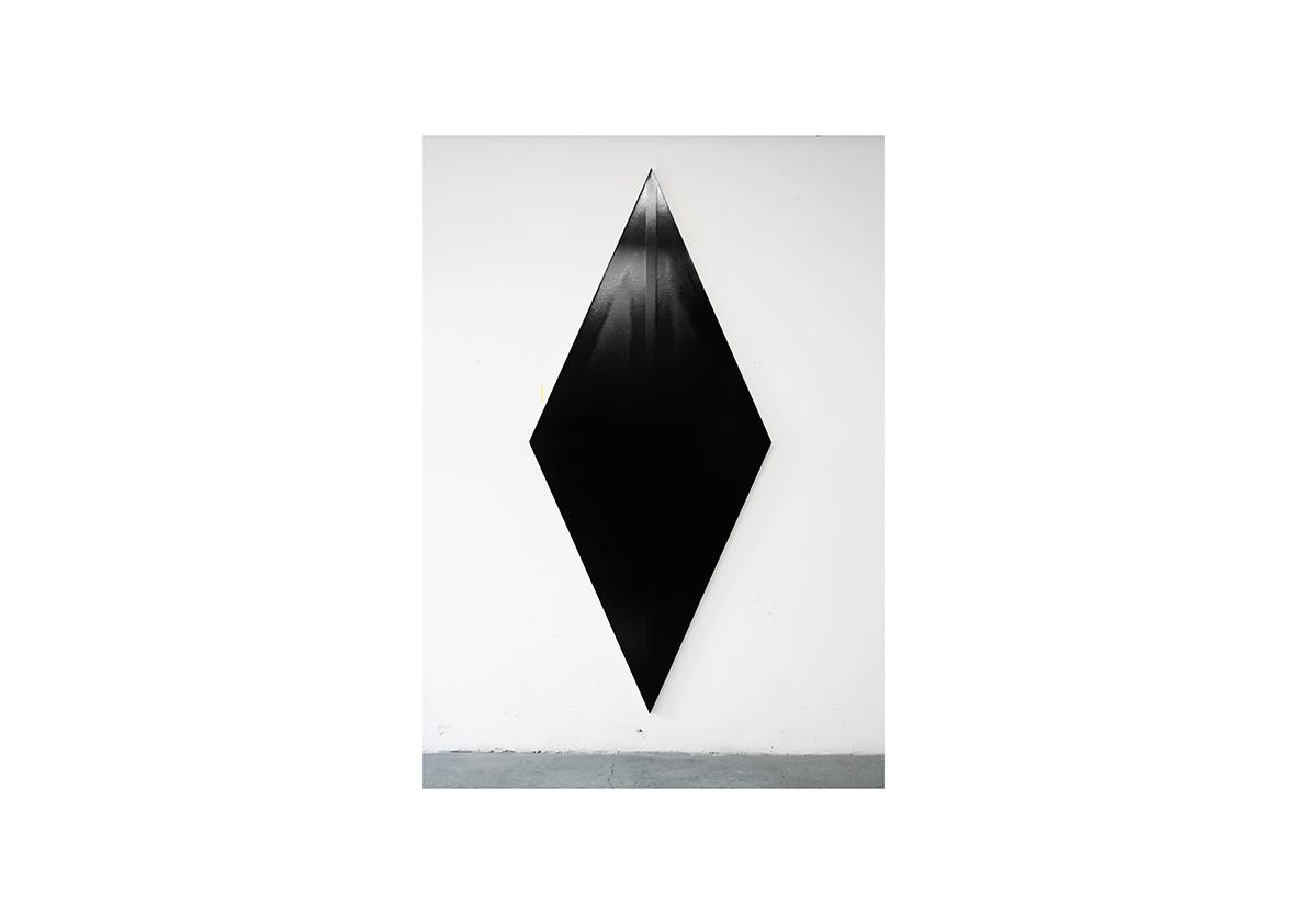ohne Titel, 2007    Acrylfarbe auf Baumwollstoff 250 x 110 cm