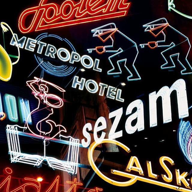 Neon Sign in Warsaw circa 1960's