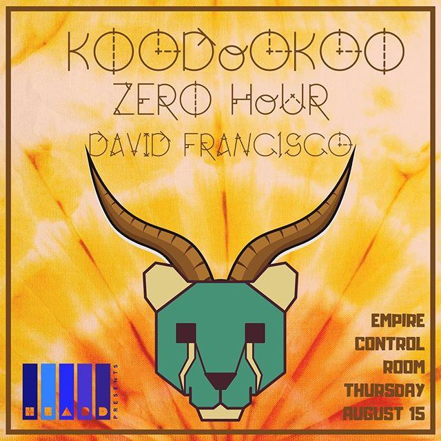 🎵🎶Show Announcement Time🎶🎵 We are hitting @empireatx with our friends Zero Hour (@diamondcutsmusic and Jose G of @mamafestamusic) and @davidfranciscomusic Thursday 8/15! Don't miss this one folks, tix link in bio! . . . #koodookrew #atxmusic #austintx #austinmusic #jamband #jambands #funk #rocknroll #progrock #progressiverock #psychedelic #psychedelicmusic #psychedelicmusic