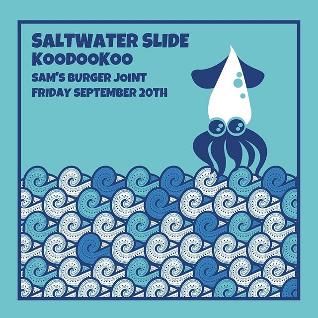 🚨SHOW ANNOUNCEMENT🚨  Join us Friday September 20th at @samsburgerjoint in San Antonio with @saltwaterslide210! Tickets go on sale this Friday 8/2 at 10 am CST, we can't wait to get down with y'all! . . .  #jam #funk #rock #rocknroll #jambands #jamband #psychedelic #improv #concert #musicfestival #hetti #crunchy #livemusic #txmusic #southernrock #southernhippies #texashippies #jamtronica #livetronica #progrock #atxmusic #atxmusician #danceparty #shred #koodookrew #reggae #sanantonio #sanantone #sanantoniomusic #burgers