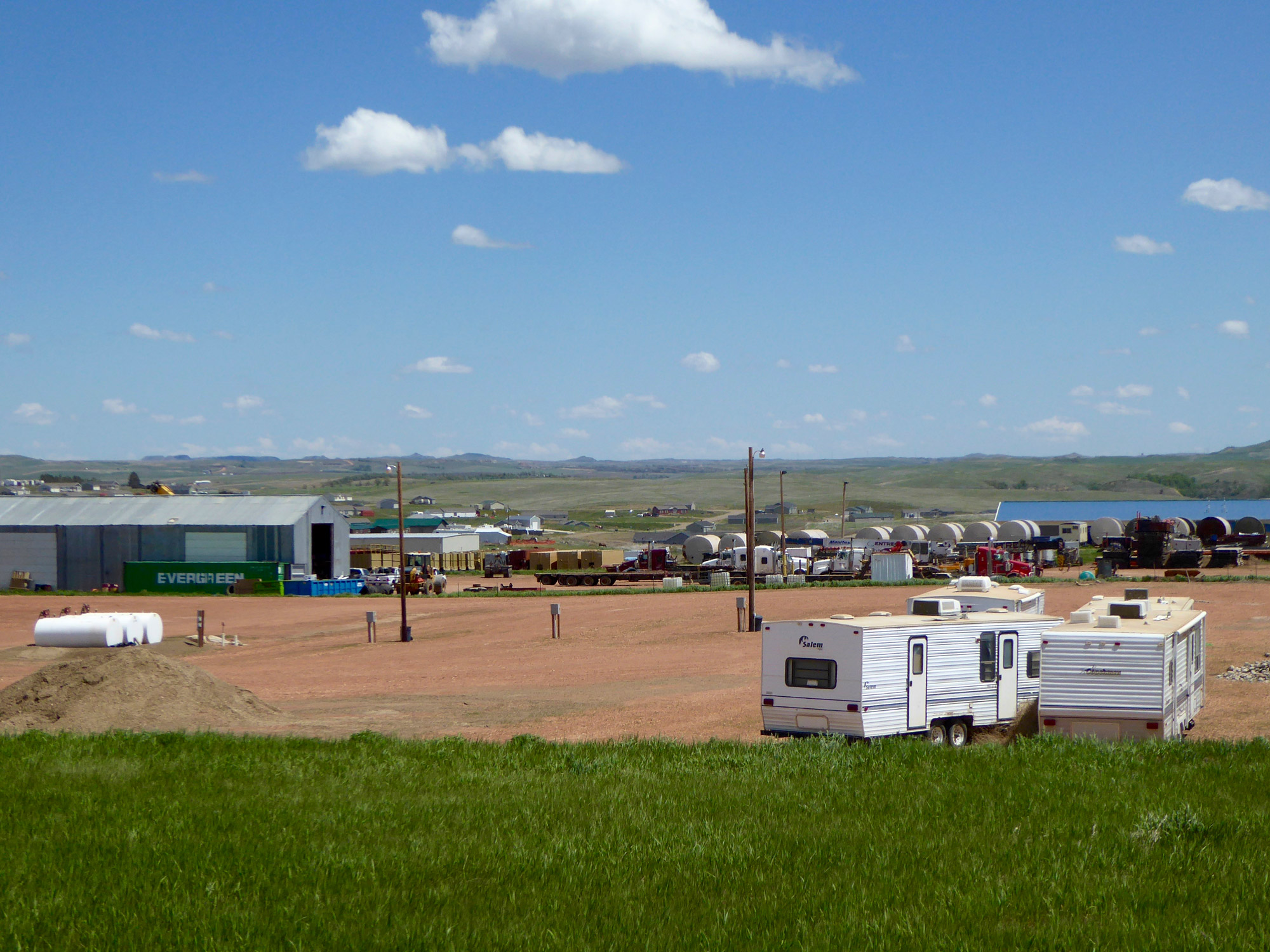 Oil field service companies, south of Watford City