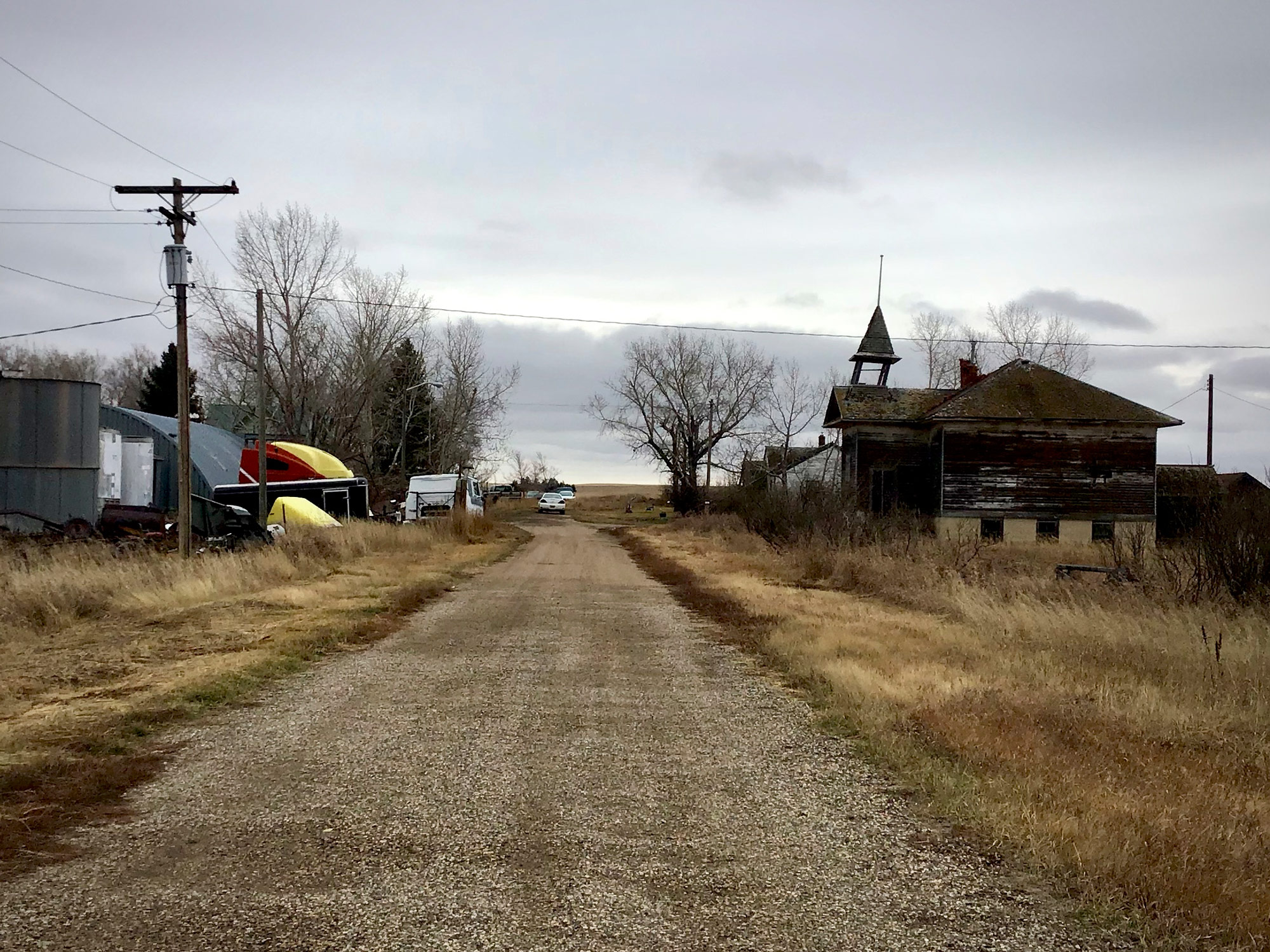 The near-empty town of Corinth, ND demonstrates the uneven distribution of benefits from oil and gas development
