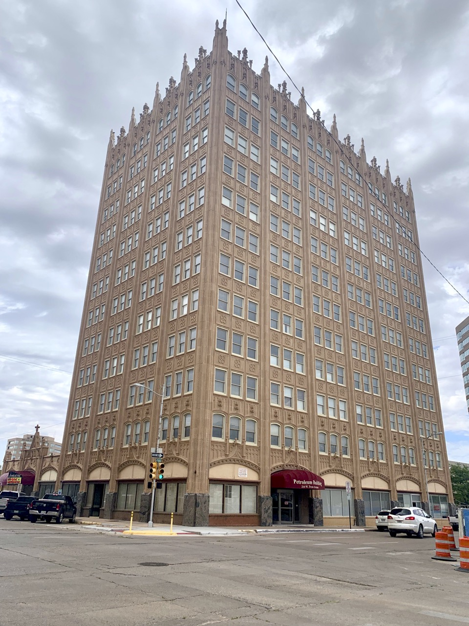 The famous Petroleum Building in downtown Midland.