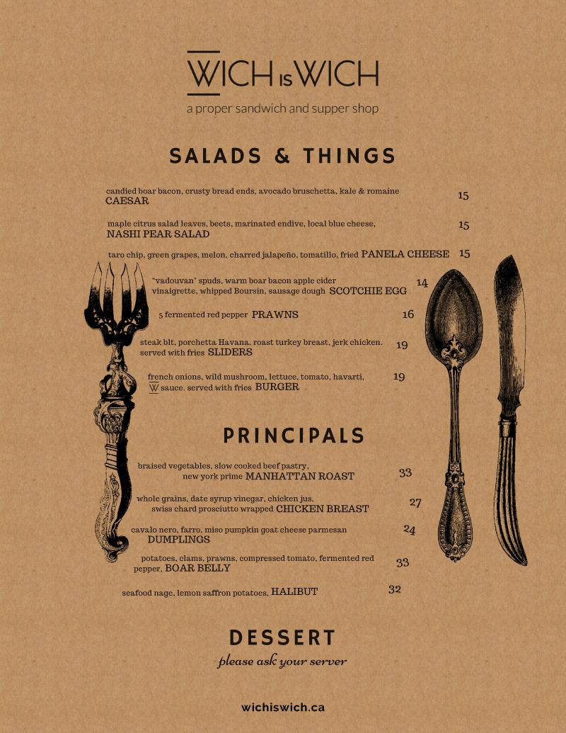Dinner Menu Design on Kraft pg 3