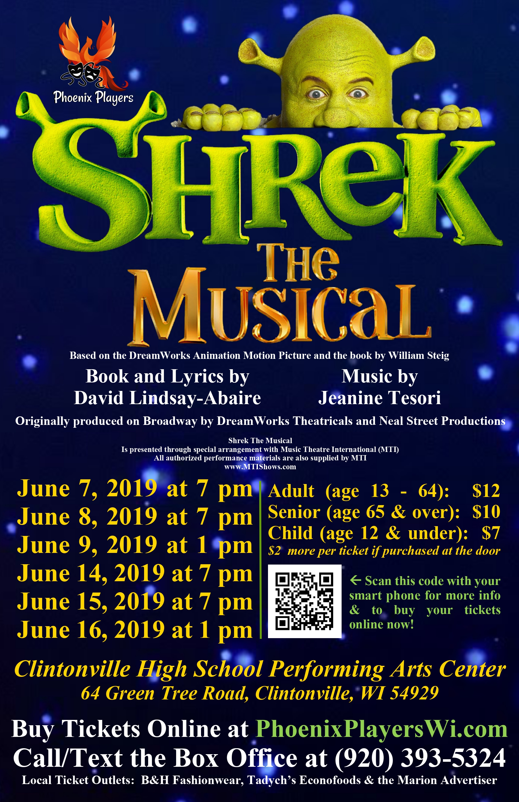 Shrek The Musical Poster - Phoenix Players - Color.jpg