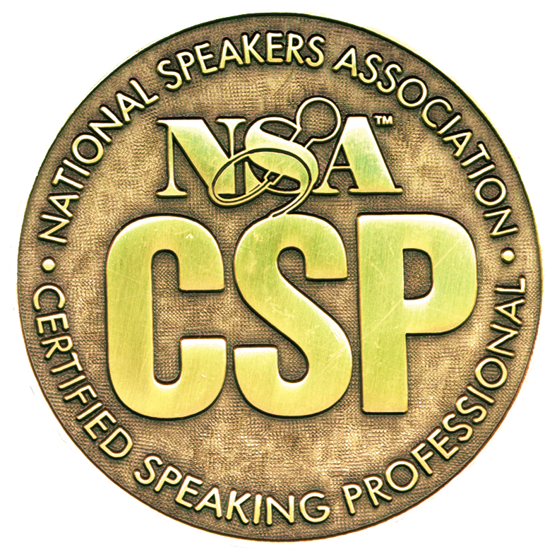 He is recognized by the National Speakers Association as a Certified Professional Speaker (CSP). -
