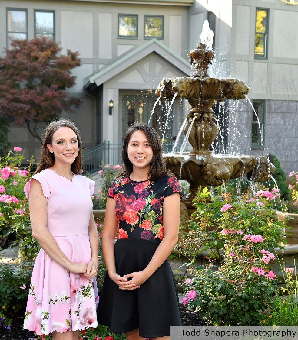 Lauren Orefice, Ph.D. (left), Harvard Medical School, Regeneron Prize for Creative Innovation by a Postdoctoral Fellow and Clara Kwon Starkweather, Ph.D., Harvard Medical School, Regeneron Prize for Creative Innovation by a Graduate Student