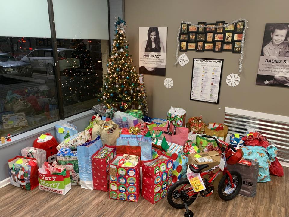 Christmas Drive - Each year we adopt families through the Redford Pregnancy Center and raise donations from our team and our practice members to ensure everyone has a merry Christmas.