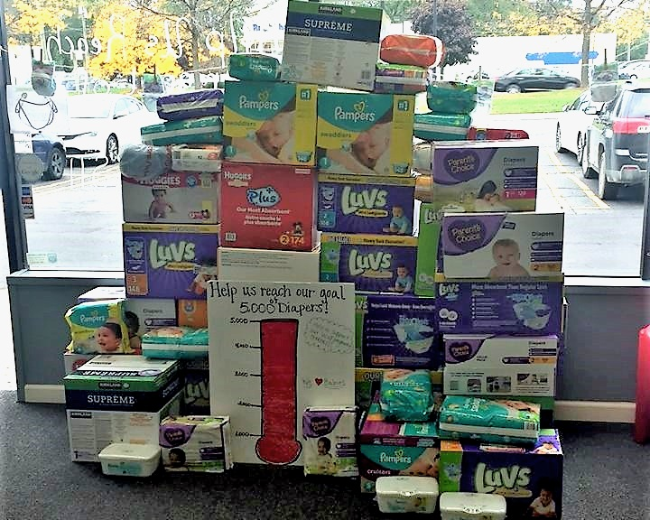 Diaper Drive - Over 5,000 diapers were collected and donated to those in need at the Redford Pregnancy Center.
