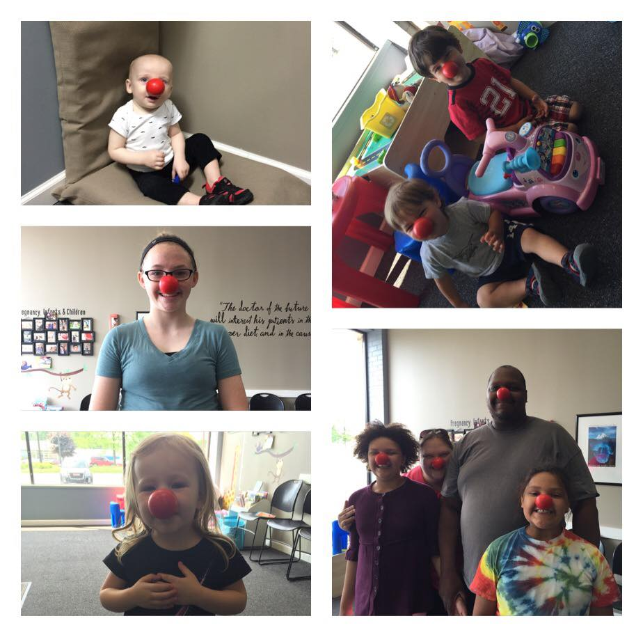 Red nose day - We bought red noses to give to our practice members so we can help end childhood poverty.