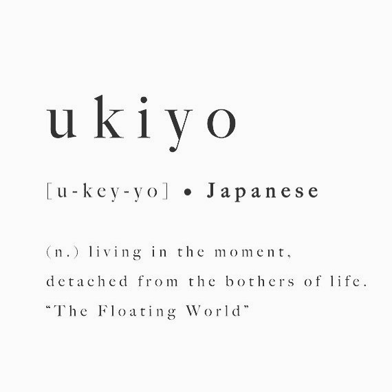 Happy Sunday friends! . . .  May this week be full of ukiyo ✨