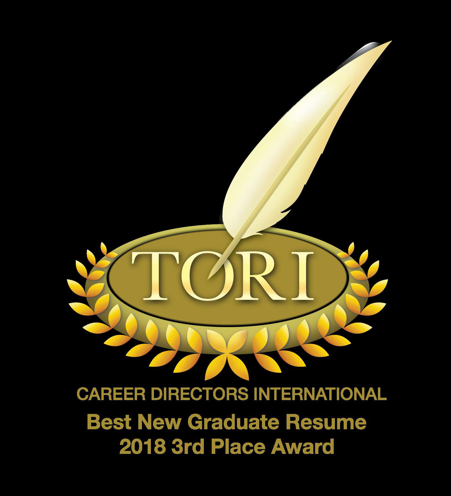 2019 TORI Award Winner!