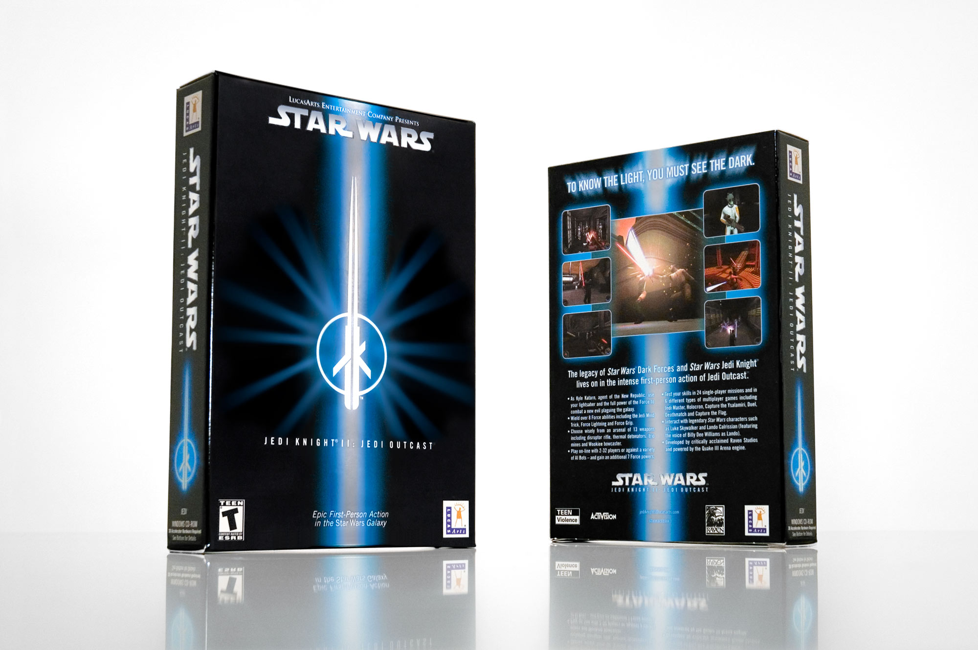 LucasArts – Jedi Knight 2 Package Design