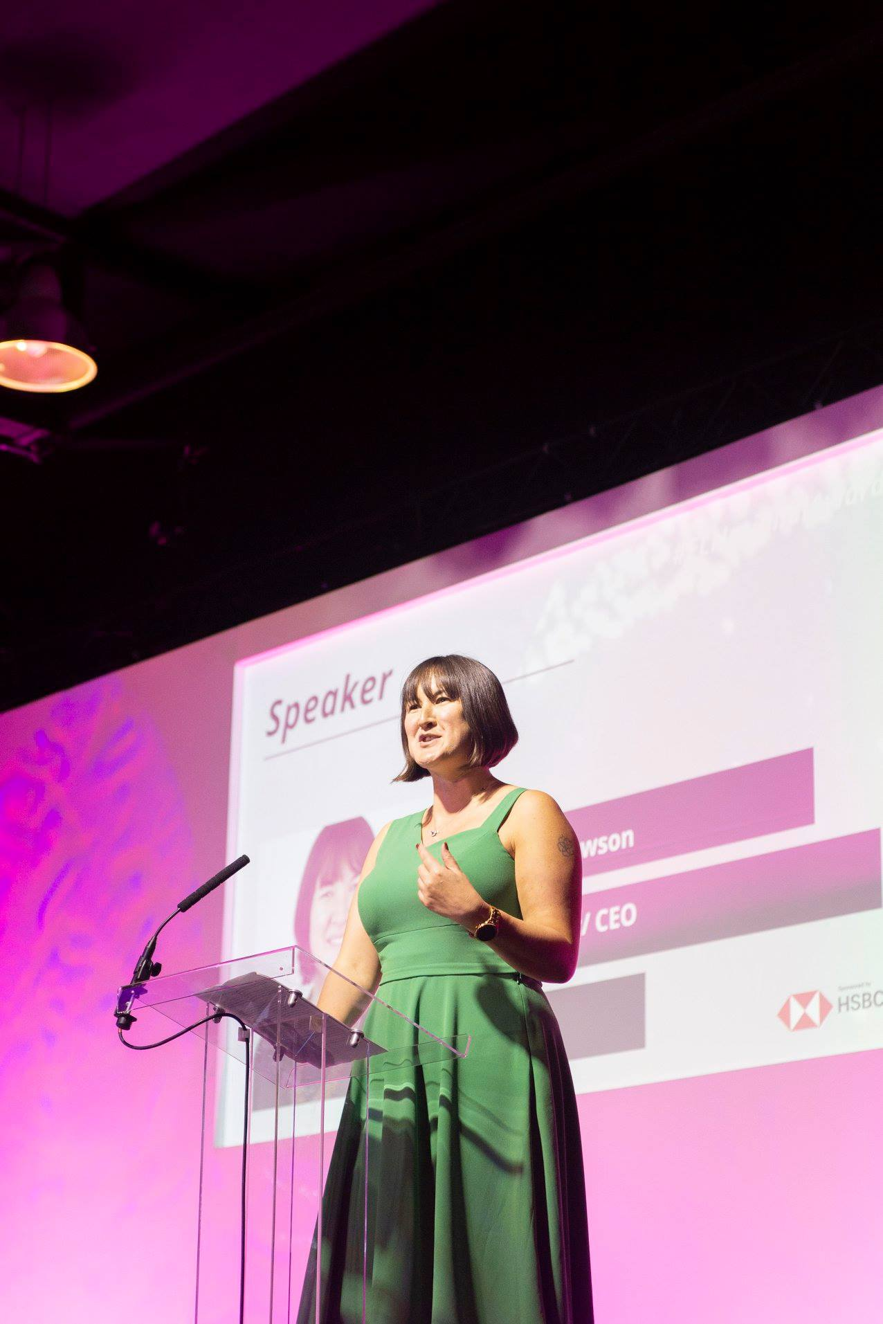 Susanna Lawson, CEO/ Co-founder of One File UK and overall winner of the The Forward Ladies National Awards 2017 speaking at The Grand Final Forward Ladies Awards 2018.