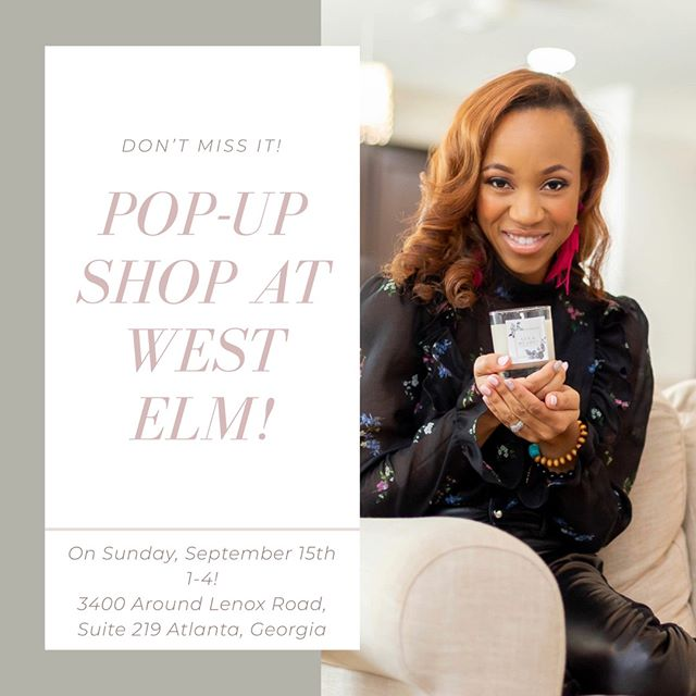 We'll be showcasing at @westelmatlanta the Lenox location on September 15th, from 1-4! Come stop by and say hi, I'd love to meet you! In person! ⠀⠀⠀⠀⠀⠀⠀⠀⠀ ⠀⠀⠀⠀⠀⠀⠀⠀⠀ ⠀⠀⠀⠀⠀⠀⠀⠀⠀ ⠀⠀⠀⠀⠀⠀⠀⠀⠀ #popupshops #westelmpopupmarket #westelmmarket #westelmatlanta #westelmlocal#craftmarkets #soycandlemaker #luxurysoycandles #poncecitymarket #westsidemarket #femaleowned #shopsmallbusiness #interiorinspo #interiordesignersatlanta#westelmpopshoplocal #lenmcaddycandles #liftstyle #rebranding #localbrand #localpopupshop #puresoycandles #popupshopatlanta #luxury #goldtins #luxuryroommist