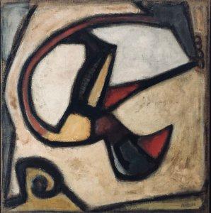 """""""Sans Titre"""" (1954)  Huile sur toile - 100x100 cm"""