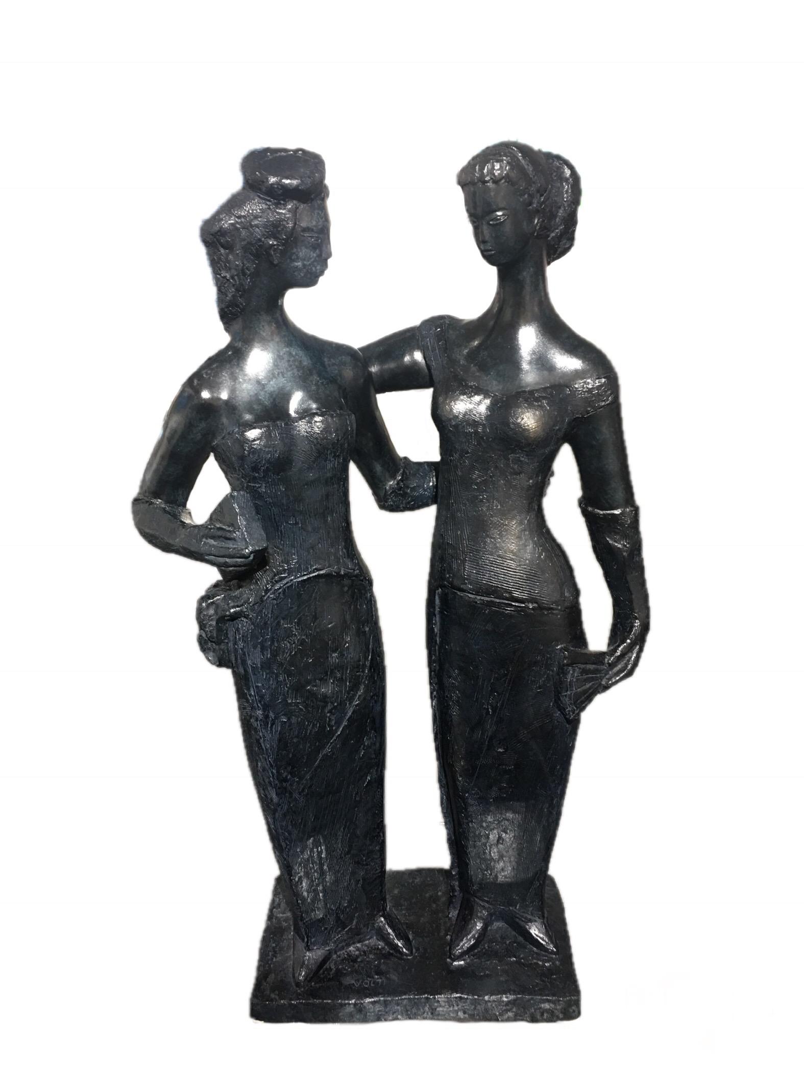 """""""Les Parisiennes"""" (1962)  Fondeur Clémenti cire perdue - Hauteur 101 cm"""