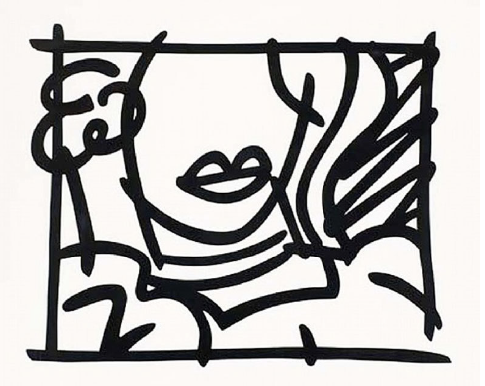 """Woman in green Blouse"" (1988)   Edition 71/100 - 121 cm x 153,5 cm  VENDU"