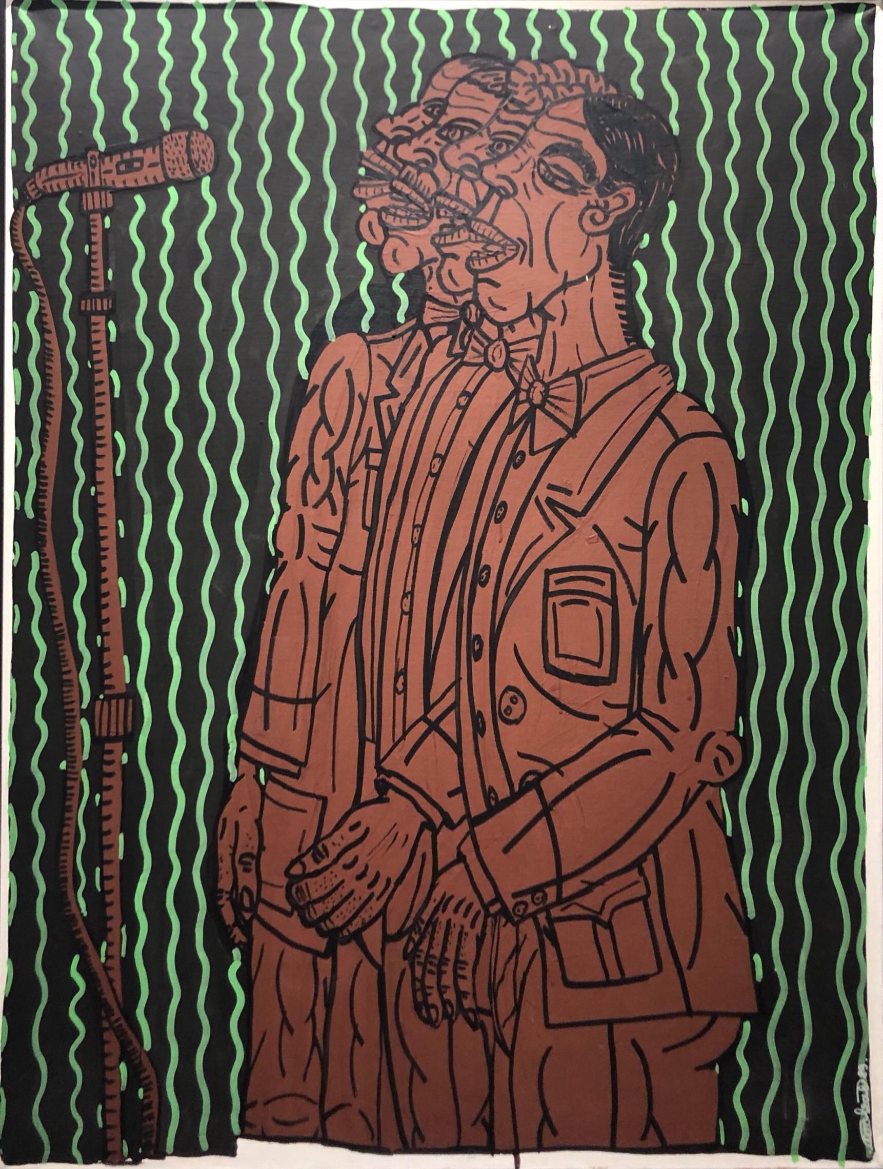 """"""" Le Choeur (1989)  147 x 114 cm - Acrylique sur toile"""