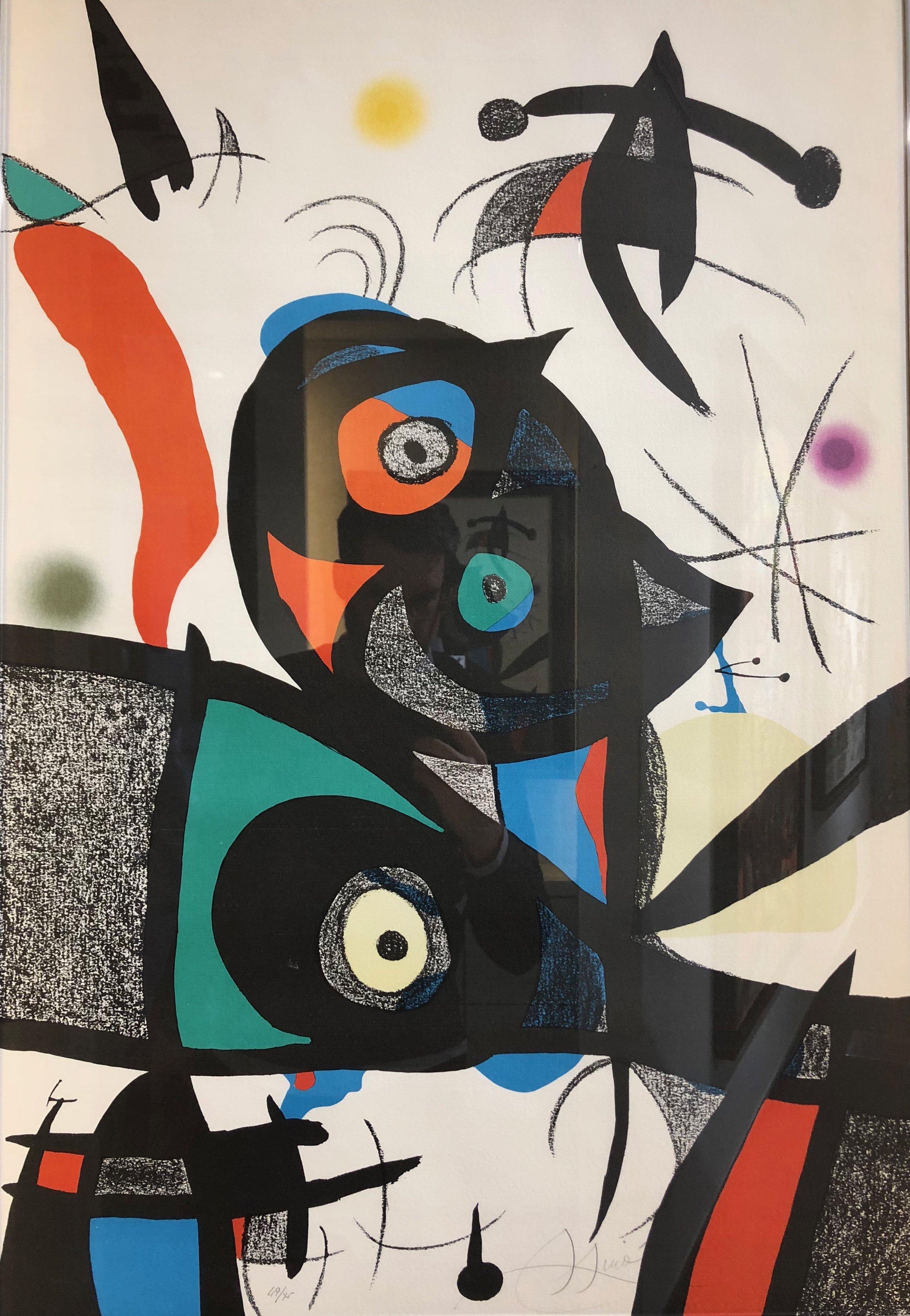 """Oda a Joan Miro"" (1975)   Lithographie originale - 88 × 61 cm"