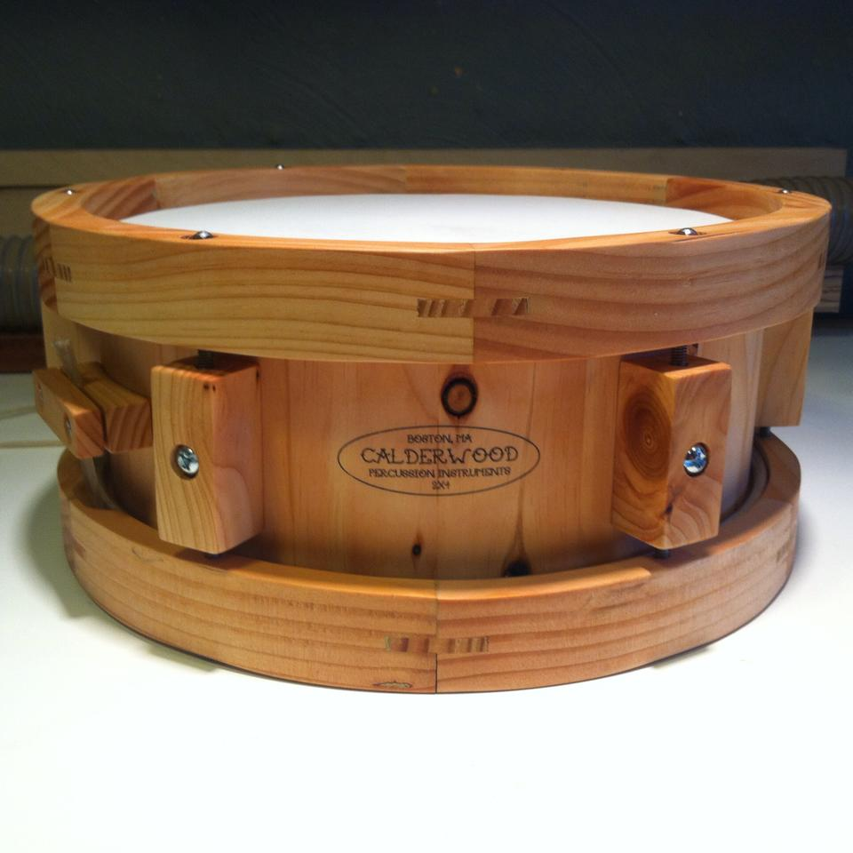 Stave snare made with one 2x4