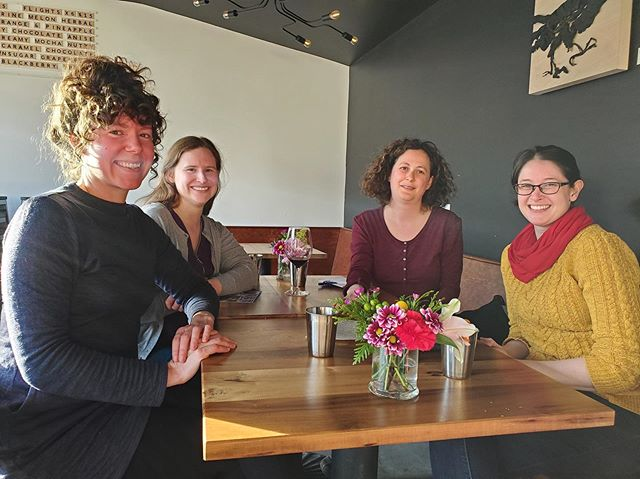 A gathering of our alumnae in Whitehorse, YK. What a better picture to feature on #MuseumWeek #womeninculture day! #mmst50 - From left to right: Chelsea Jeffrey '13, Lianne Maitland '11, Clare-Estelle Daitch '06 and Kaitlin Normandin '15.
