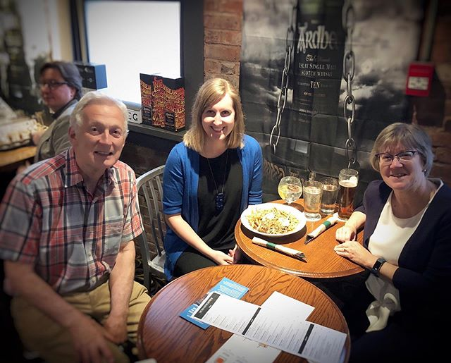 From coast to coast... 🇨🇦 Here is the meet-up in Vancouver, BC!  L to R: Robin Inglis '71 Mairin Kerr '11 Nancy Kirkpatrick '79