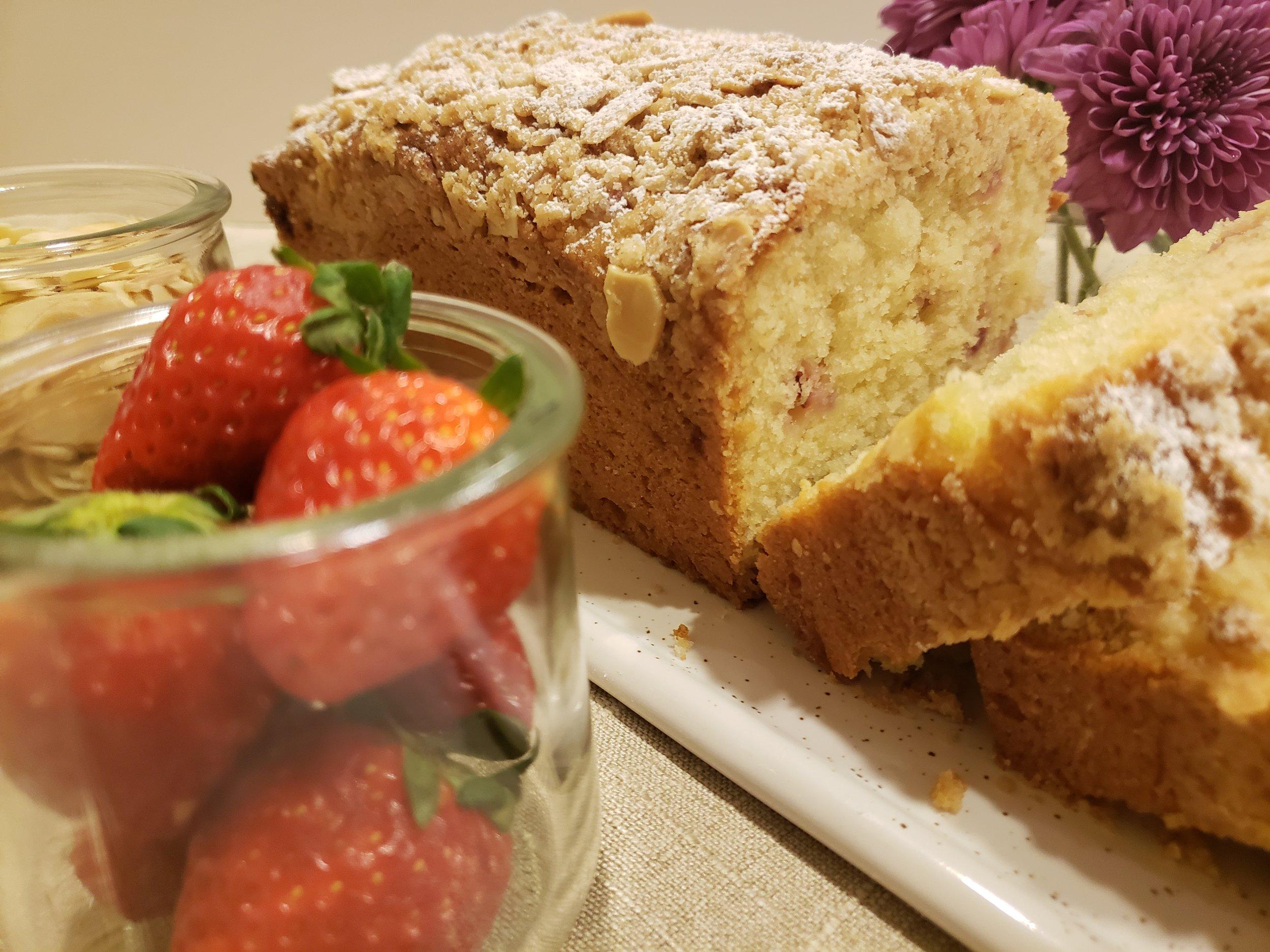 Strawberry Yogurt Loaf Cake