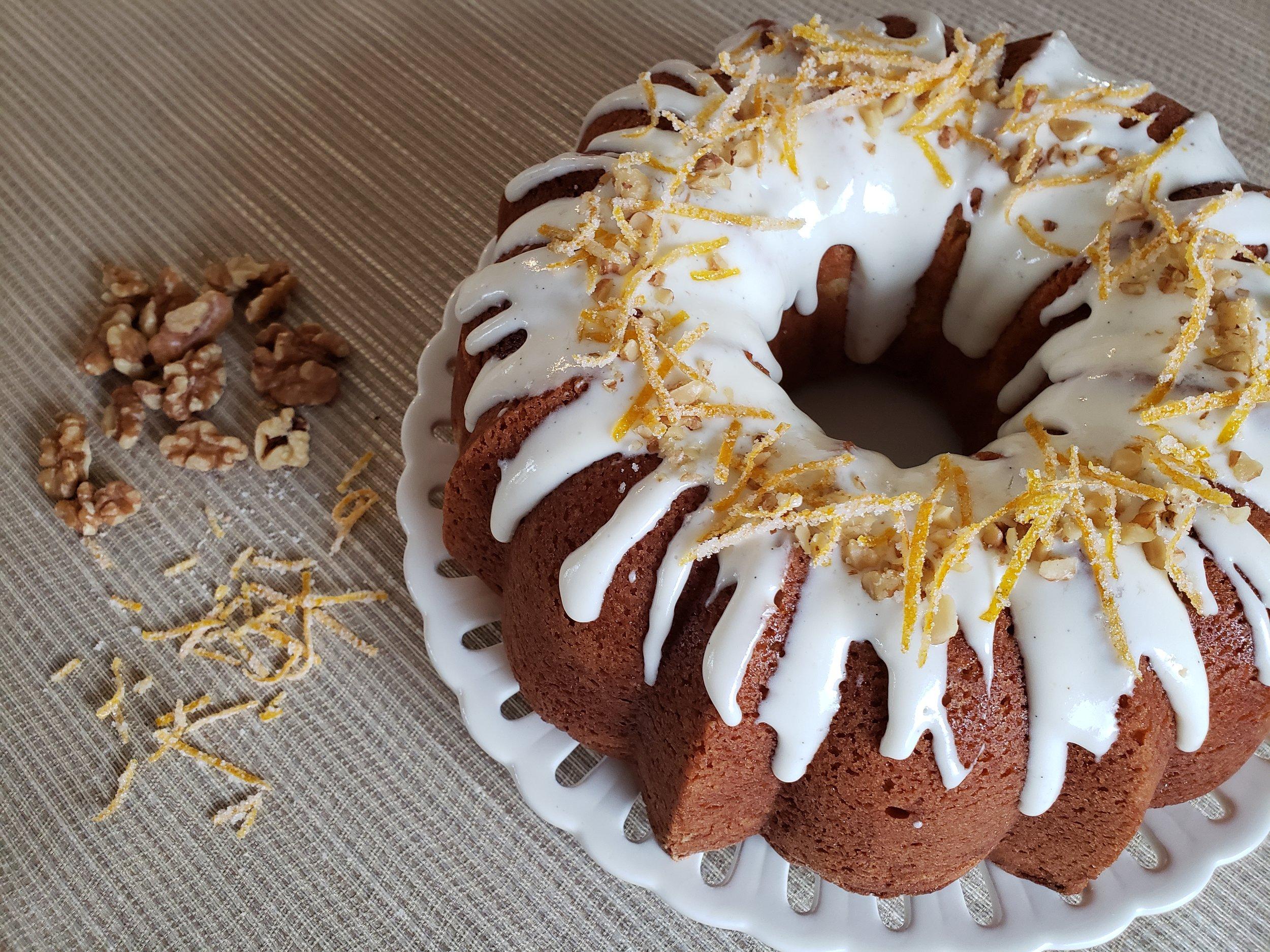 Orange Brown Sugar Swirl Pound Cake