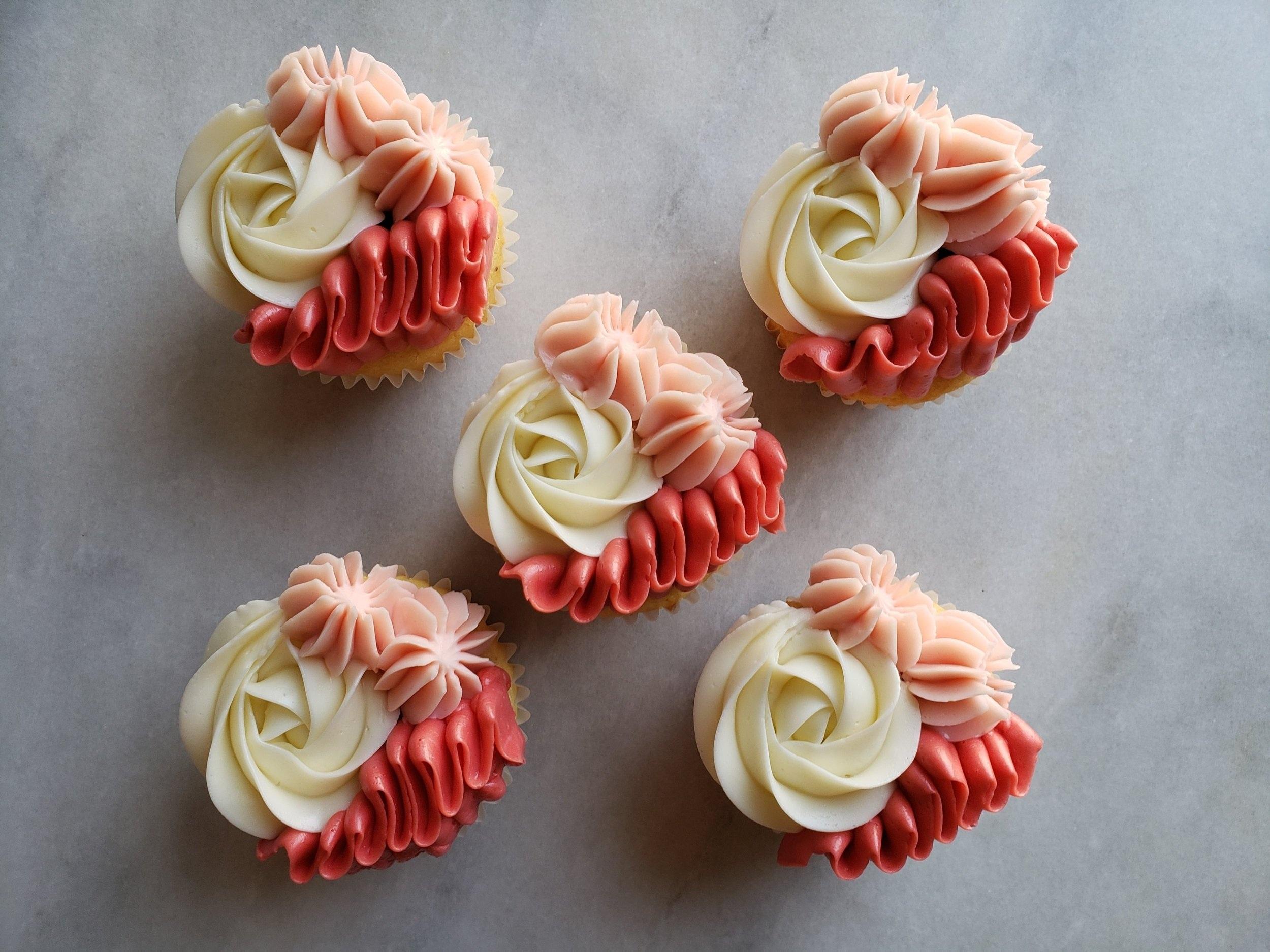 Ricotta Vanilla Bean Cupcakes with Roasted Vanilla Strawberries