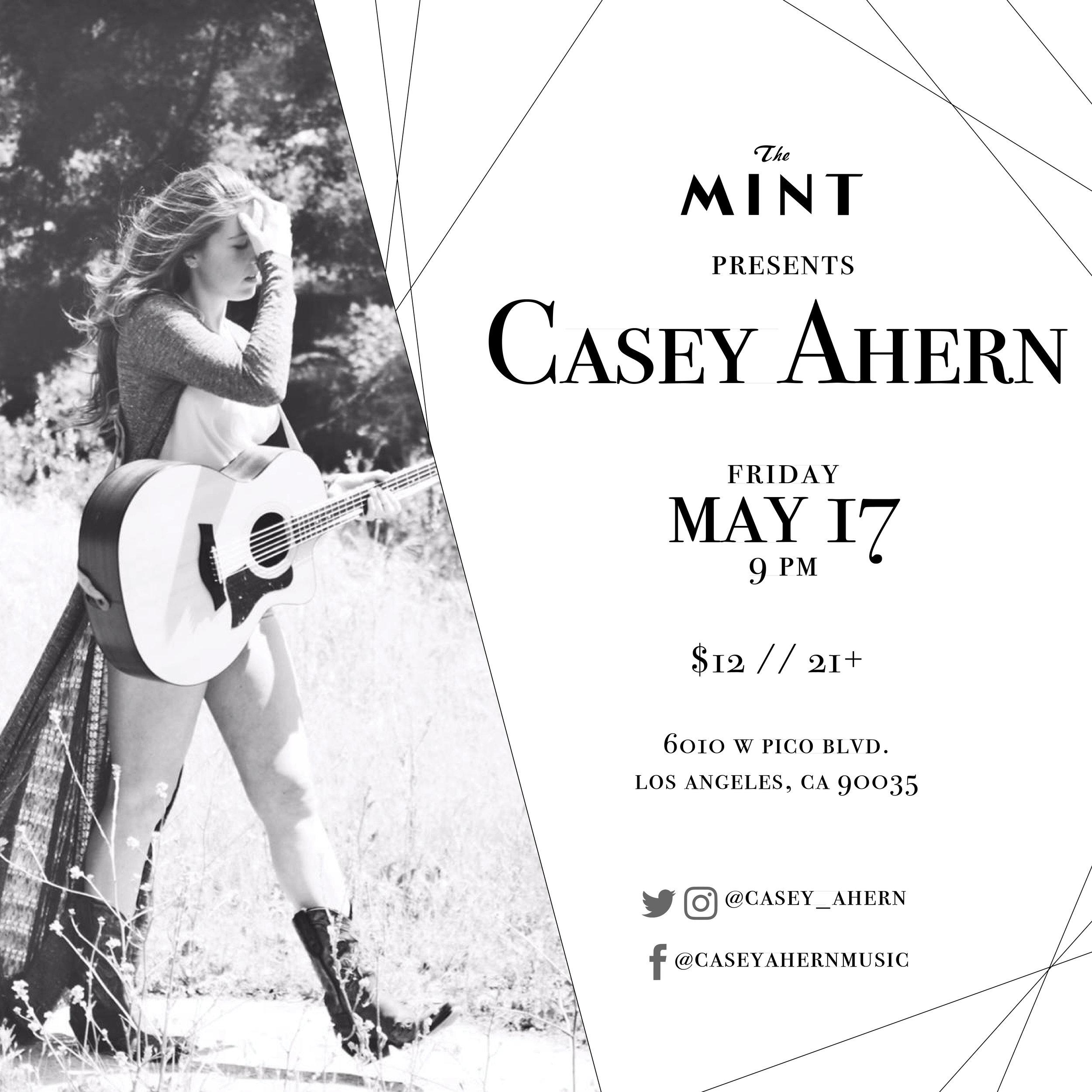Casey Ahern Mint 5/17 flyer