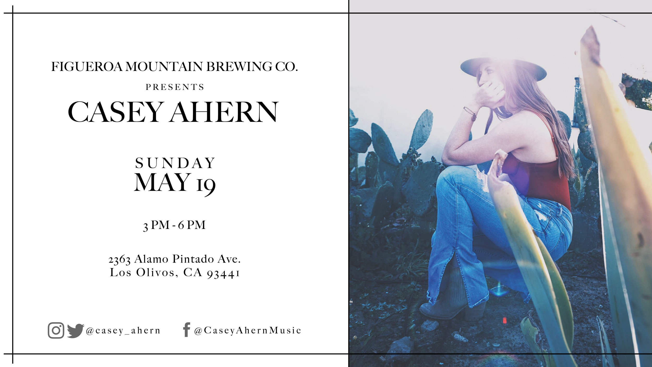 Casey Ahern May 19 flyer