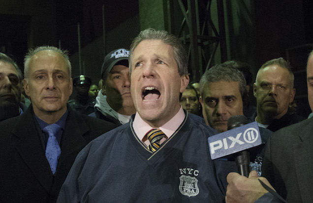 PBA Spokesperson Patrick Lynch in December 2014. (Credit: AP/Ken Silverstein)