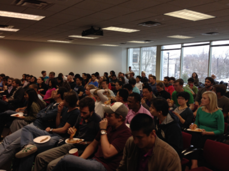 Kellogg Students listening on how to exercise leadership without authority