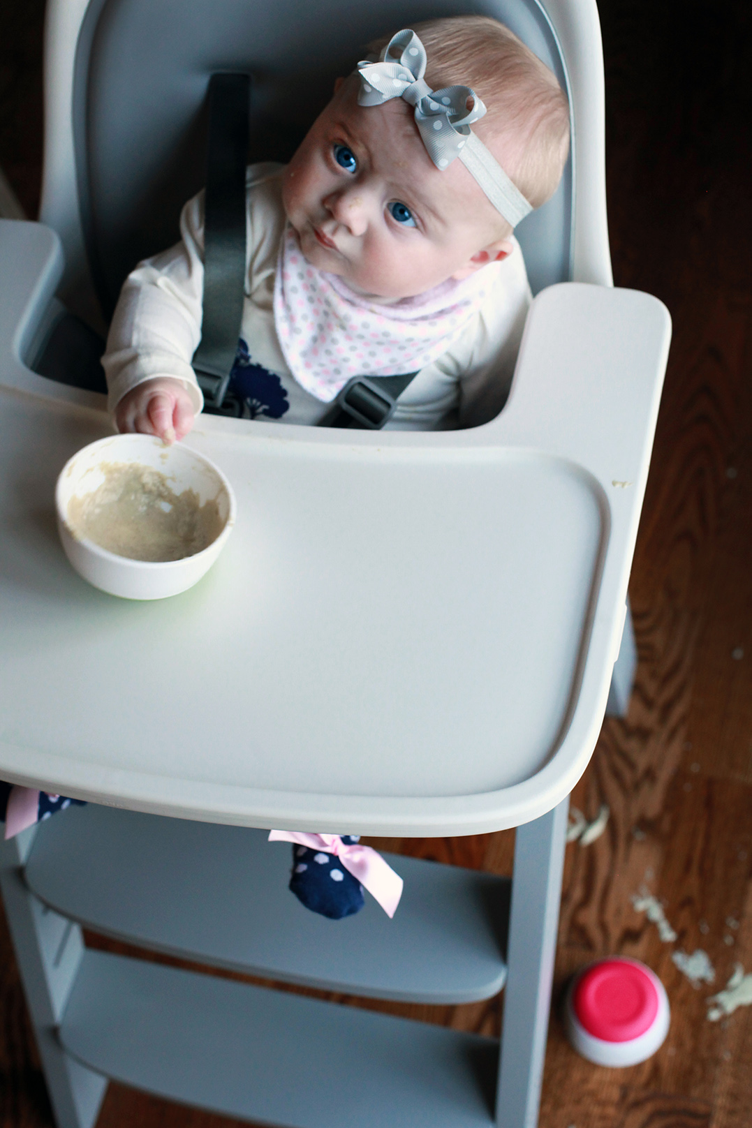 Baby' first bites with OXO Tot