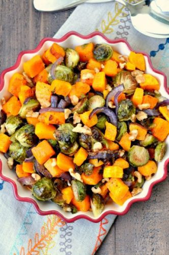 Roasted Brussel Sprouts & Butternut Squash