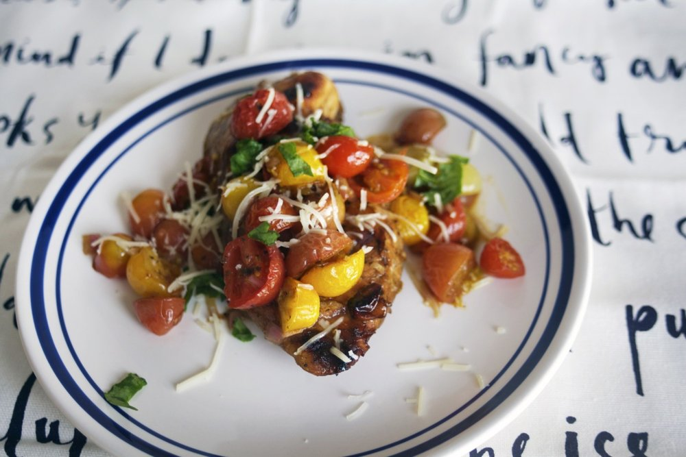 Cherry Tomato Balsamic Chicken