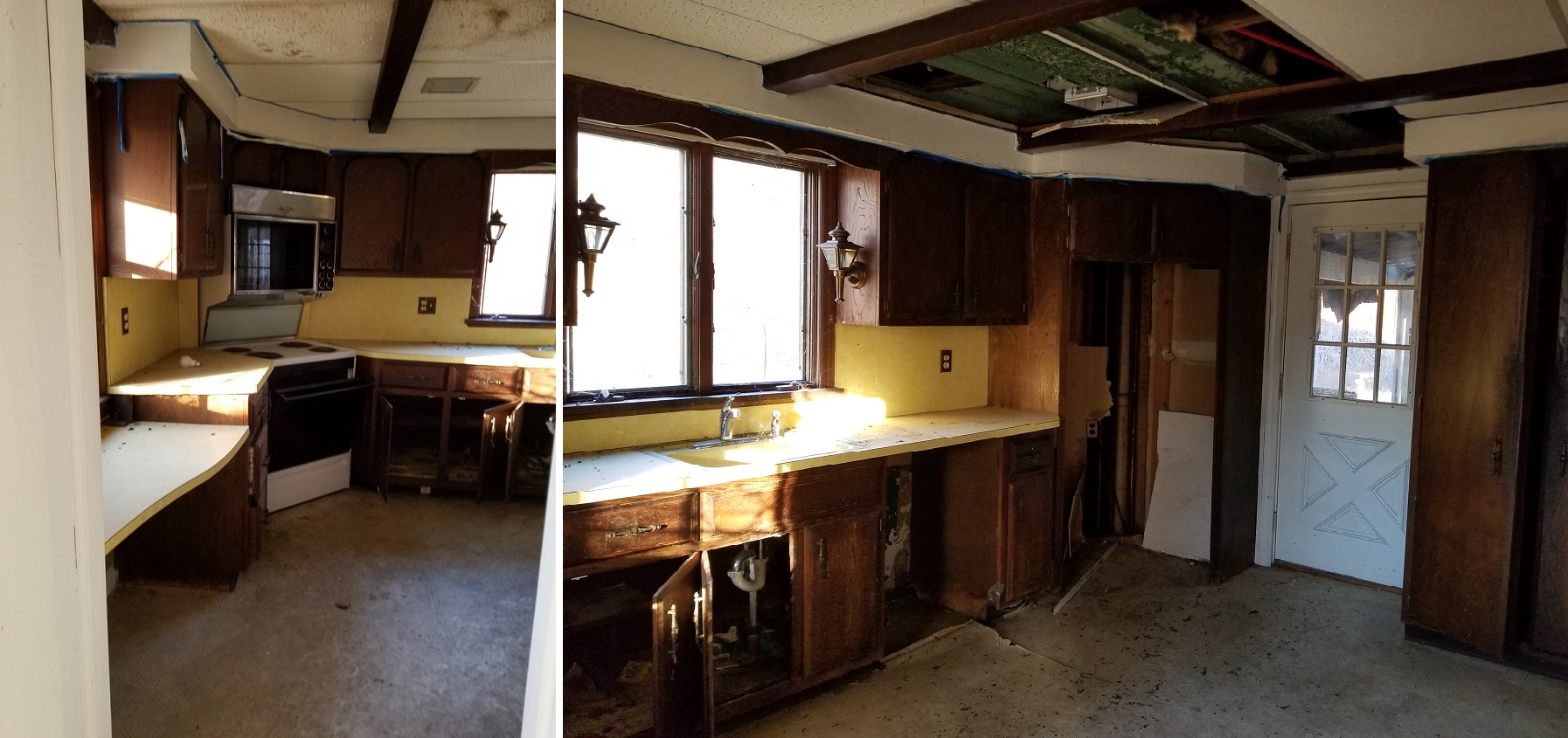 Existing 1970's kitchen