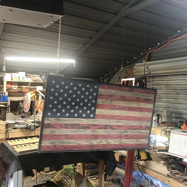 Another 4' solid oak flag ready for topcoat  www.SplinteredWoodcraft.com #3d  #murica #MadeInAmerica #military #guitar #customwoodwork #acousticguitar #wood #woodworking #guitardish #electricguitar #ibanez #walnut #supportsmallbusiness #xcarve #inventables #wood #woodworking #vape #epoxy #resinart #flag #woodflag #flags #vape #vapingsavedmylife #donttreadonme #pen #billetbox #wevapewevote