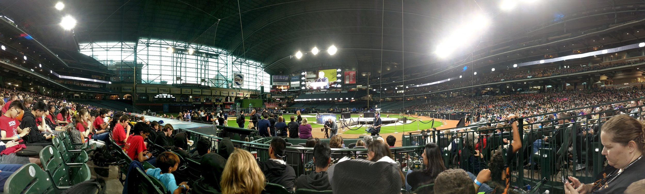 Our view at Minute Maid Park