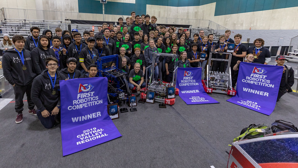 663 was part of the winning alliance at the 2019 Central Valley Regional with teams 1323 & 1678