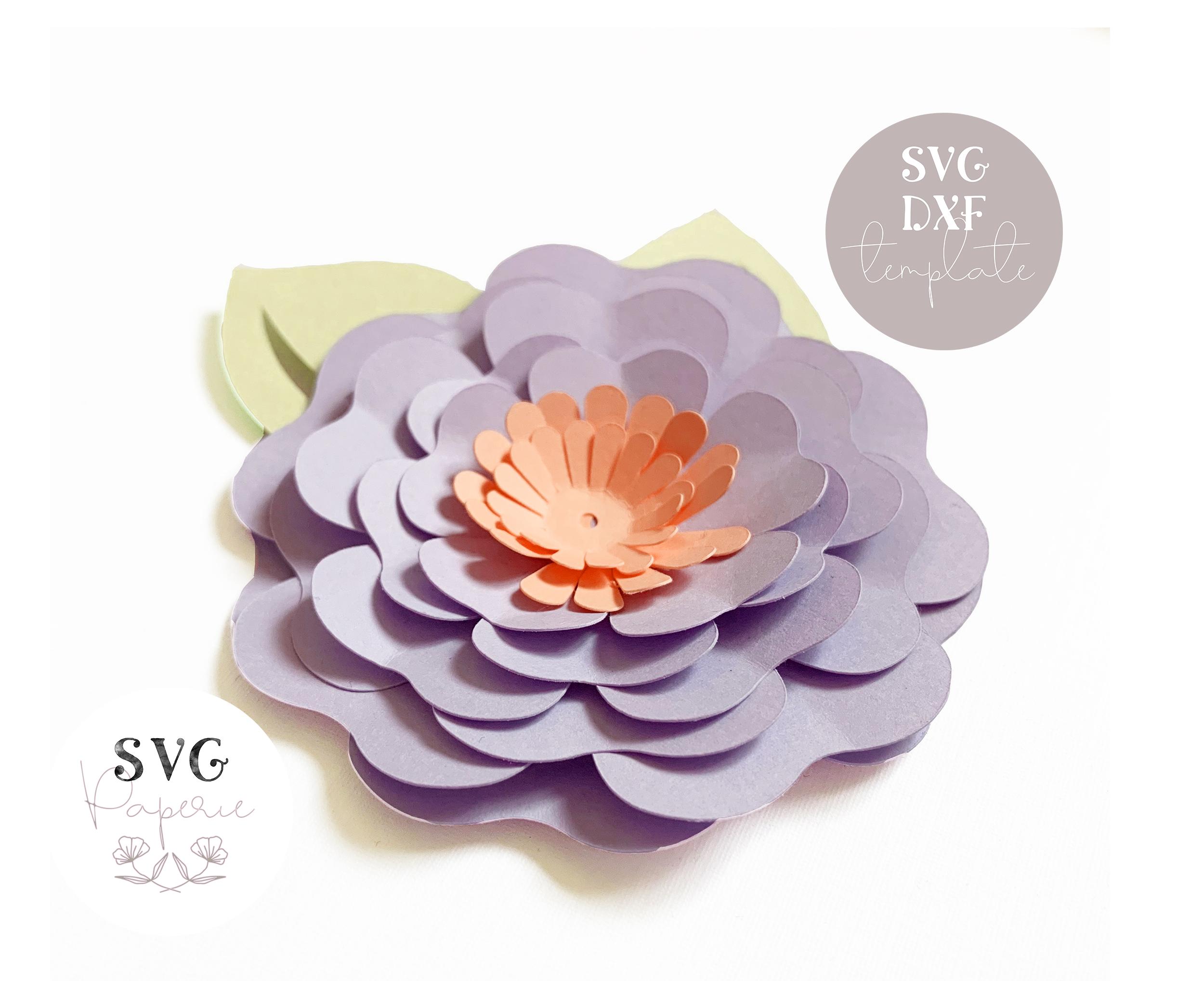 3d Flower Bundle Of 5 Svg Template Paper Flower Svg Templates Cricut And Dxf