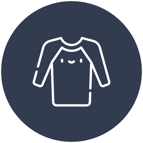 Rash Shirts - Each hub site needs 30 rash shirts of all shapes and sizes, to stay out of the elements, and identify all our surfers
