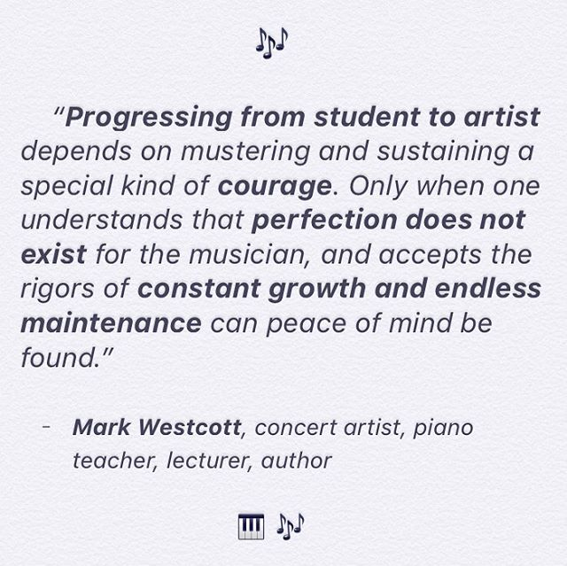 I've been reading Playing With Love, by Mark Westcott, who currently teaches here in Portland, and I had to share this quote. 🎹🙏🏻♥️ . . . #markwestcott #pianist #piano #pianomusic #guitar #violin #classicalpiano #musician #musicgoals #quotes #portland #classicalmusic #livemusic #concert #mozart #beethoven #classical #mentor #acoustic #opera #composer #artist #concert #love #jazz #portlandor #motivation #mentor #pnw #pdx