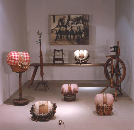 First museum of lace established in vamberk 1924 - retrospective exhibition of old Czech lace making to modern