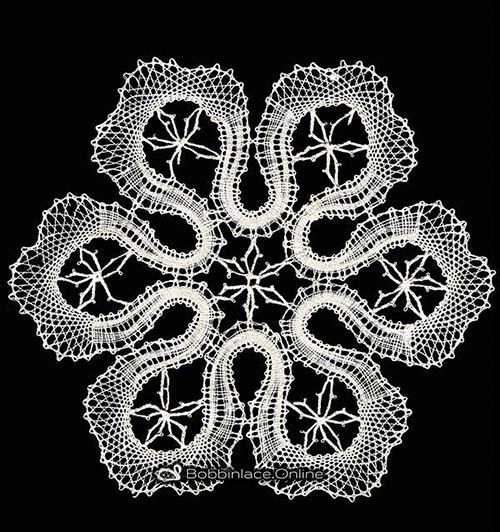 Bobbin Lace Snow Flake Design