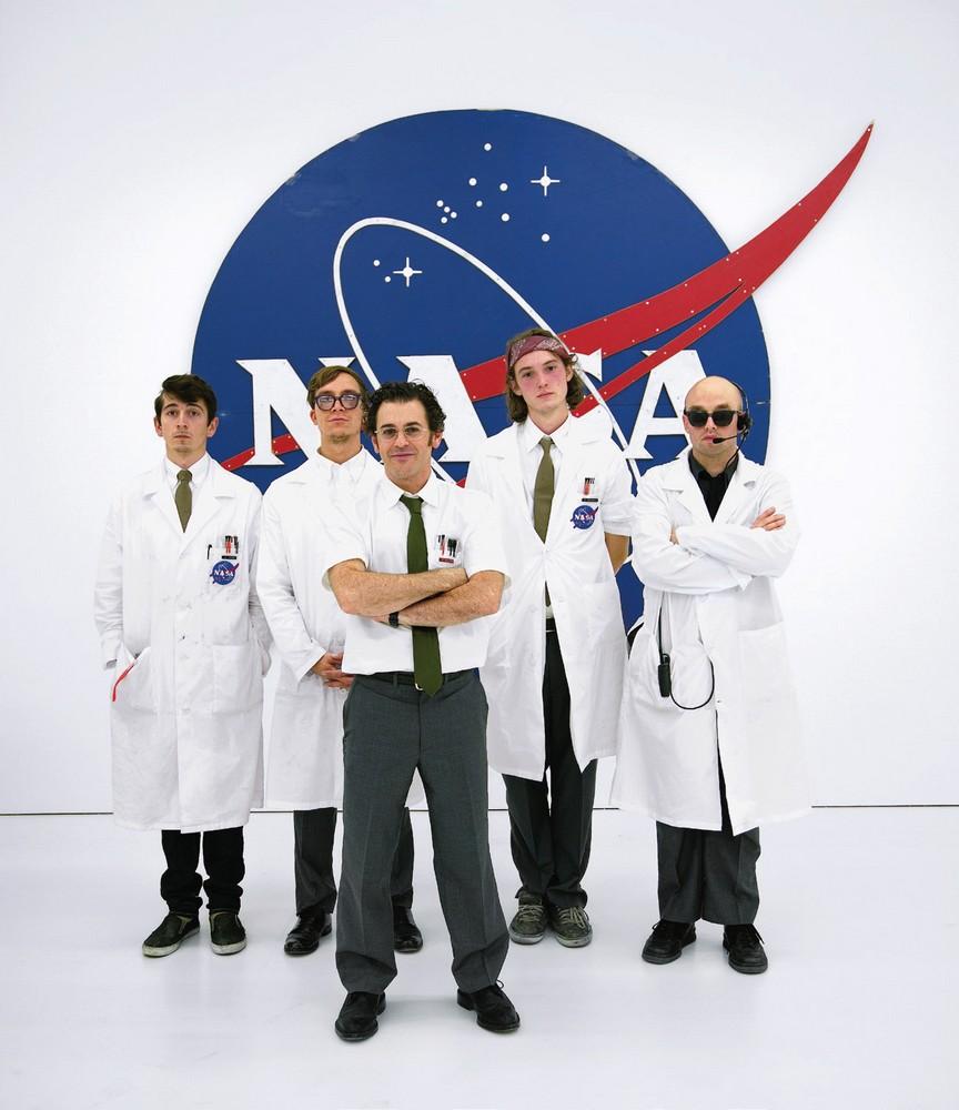 Ground Control team, Space Program, 2007 Courtesy Gagosian Gallery, photo by Joshua White  from left to right: Nick Doyle, Jay Gard, Tom Sachs, Patrick McCarthy, JJ PEET