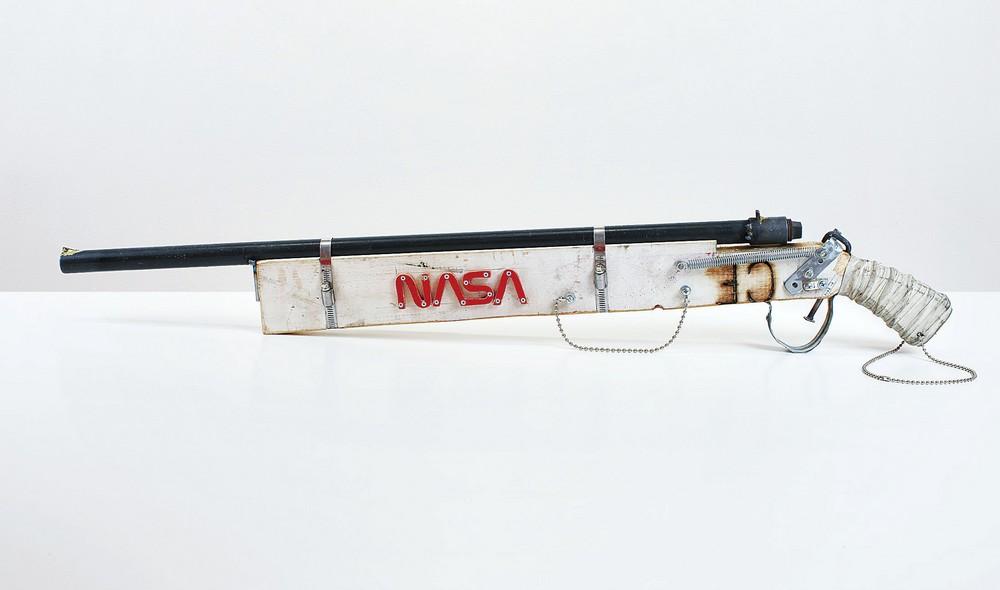 Shotgun, 12 Gauge, Breech-Loading, Handmade, Space Program, 2007  Courtesy Gagosian Gallery, photo by Joshua White