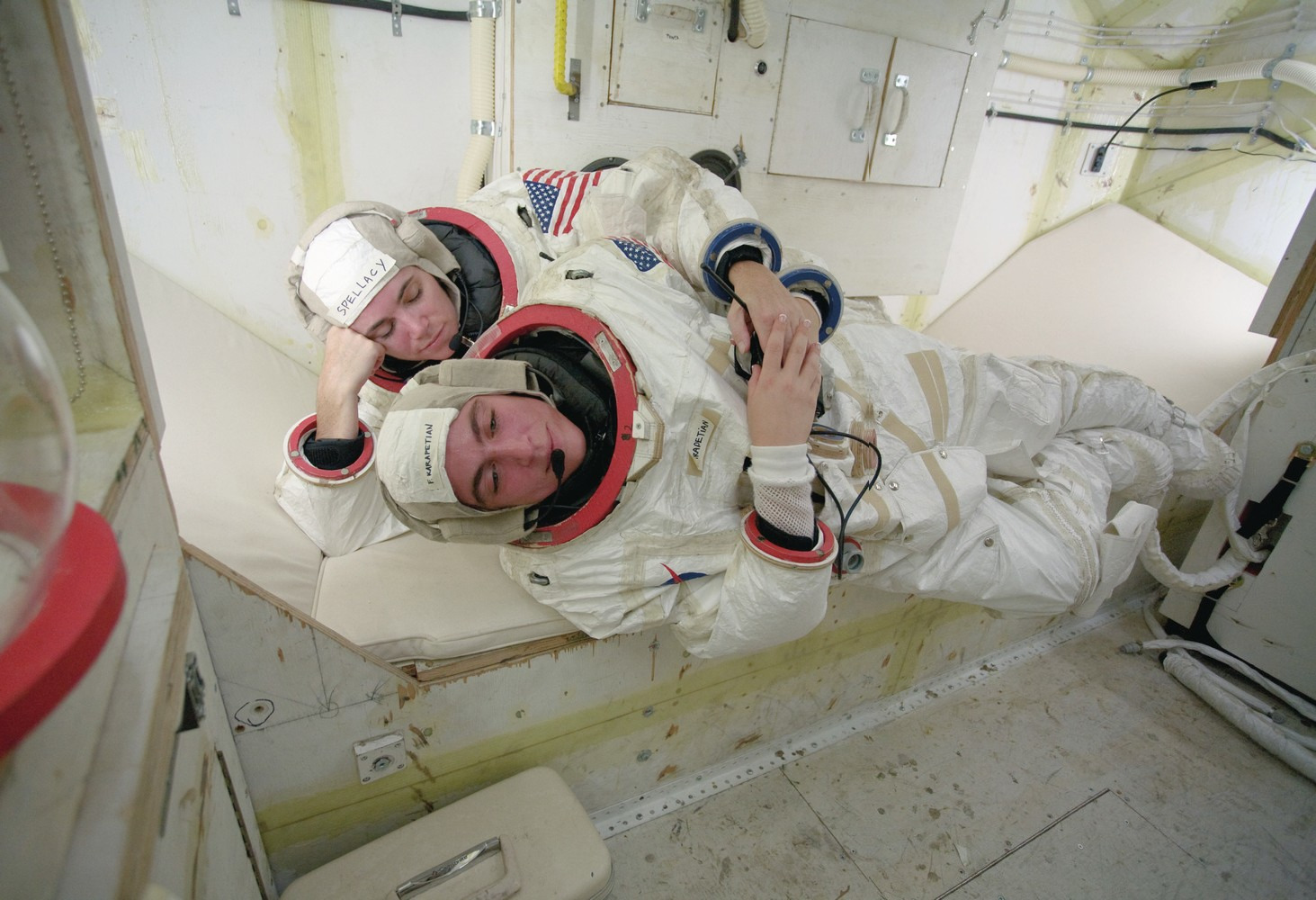 Astronauts Allyson Spellacy and Farrah Karapetian, Space Program, 2007 Courtesy Gagosian Gallery