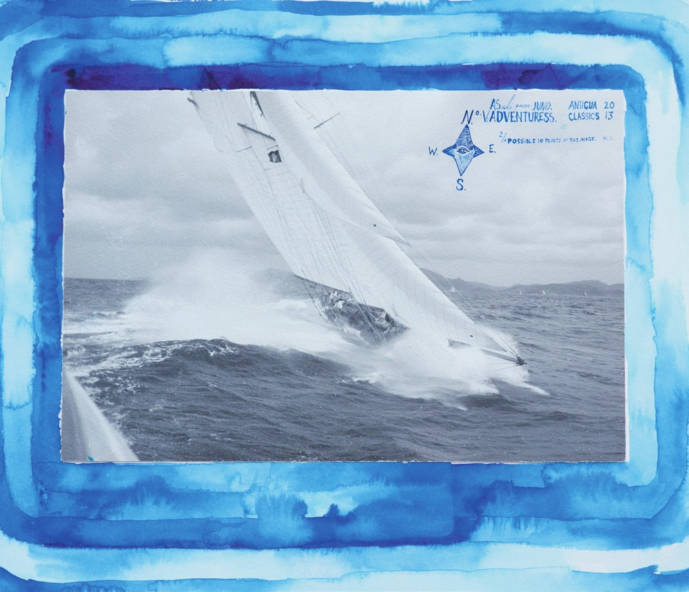 Adventuress, off Antigua, 2013, by Max Imrie